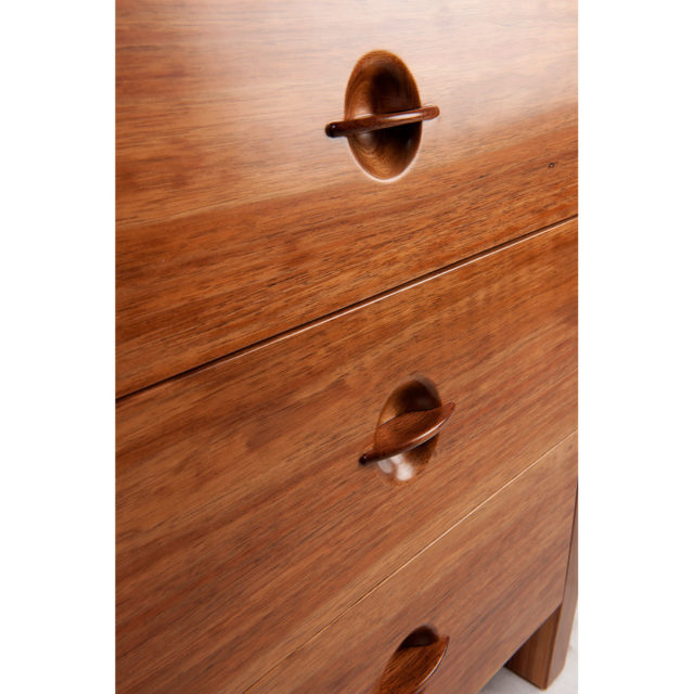 Chess 3 drawer bedside cabinet. Dovetailed drawers with under mounted Blumotion runners