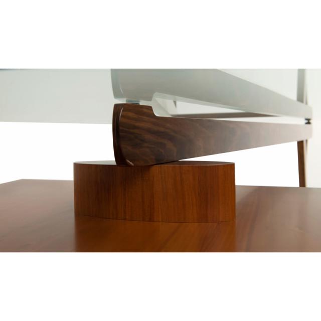 Architectural home executive desk 2000 x 900 glass