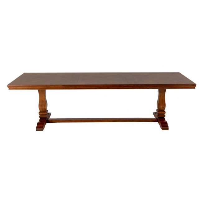 T372 Provence table parquettry top montpelier base American Oak 2780 x 1070