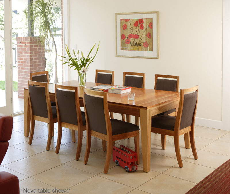 Forte Extension Timber Dining Table And Chairs