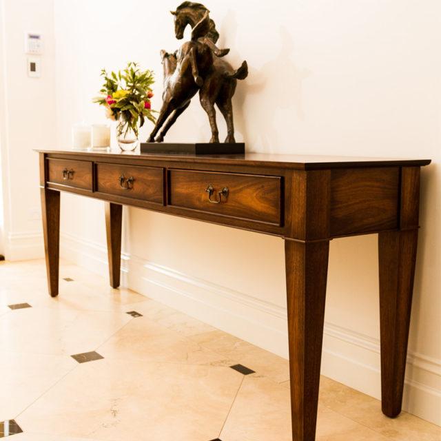 Custom made entrance hall table