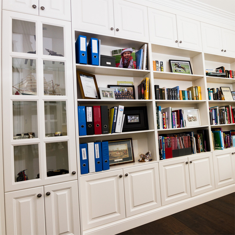 Wall cabinets designed and made to order in a style and colour to ...
