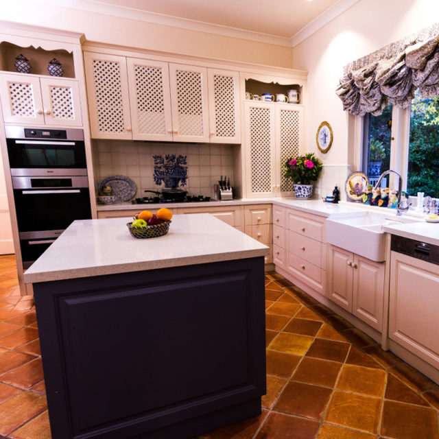 French provincial Kitchen and island bench