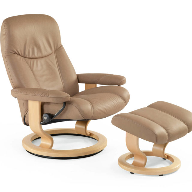 Stressless recliner chair_Consul Latte medium or large