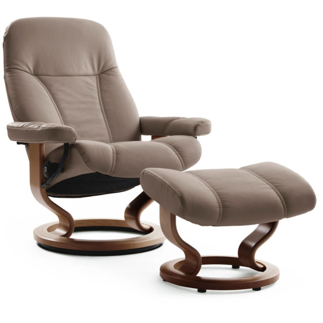 Stressless Consul recliner chair_Leather Batick Mole
