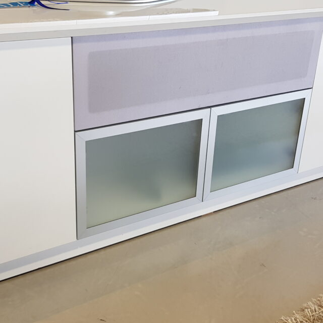 Glass doors and Removable speaker panel