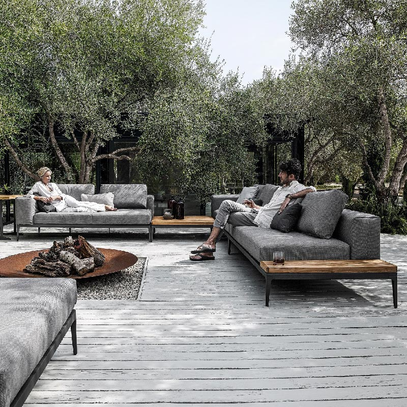 Grid outdoor modular Lounge by Gloster