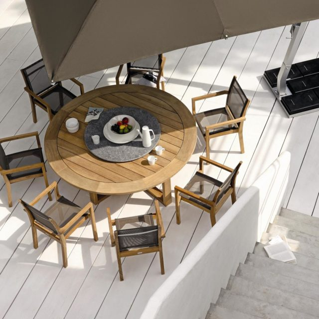 Siena 1550 round teak table