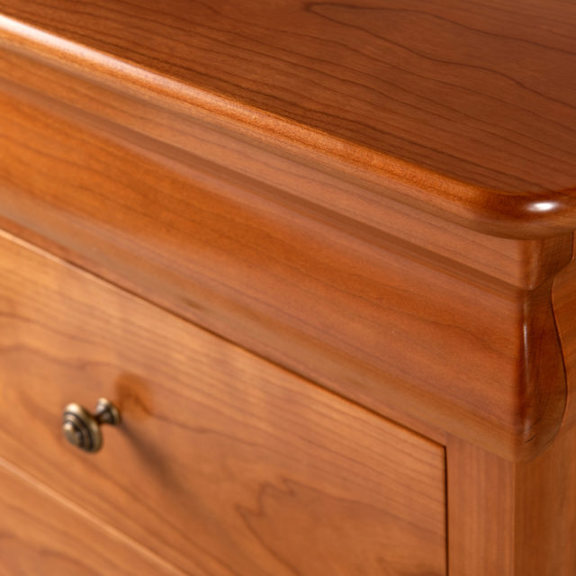 Avignon Bedside has a secret top drawer & 3 large dovetailed timber drawers