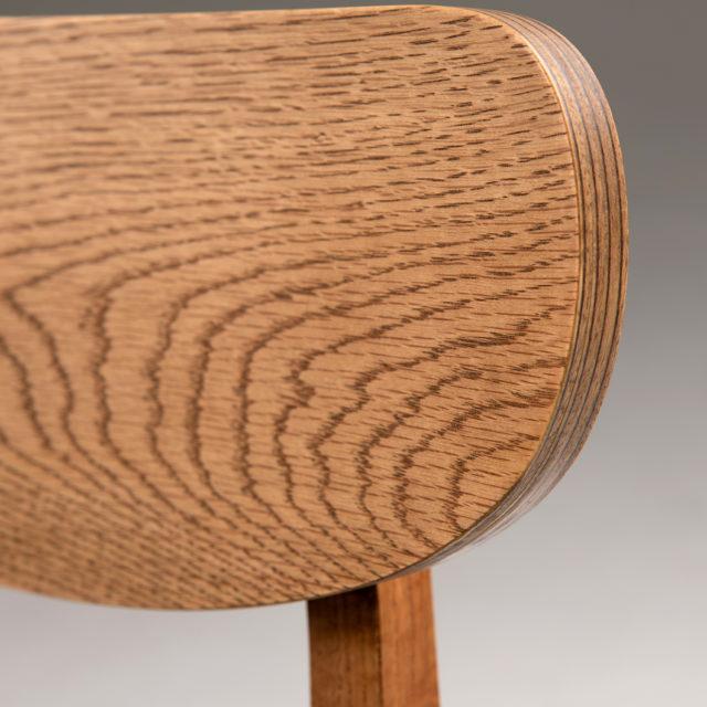 C140 Dan chair - USA oak - Upholstered seat
