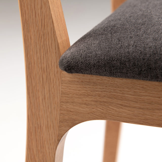 C141 Finn Chair Upholstered seat and half back