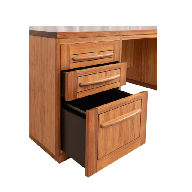 DSK183 Reeves Desk Drawers (Blackwood) 3 drawers, 2 small 1 file