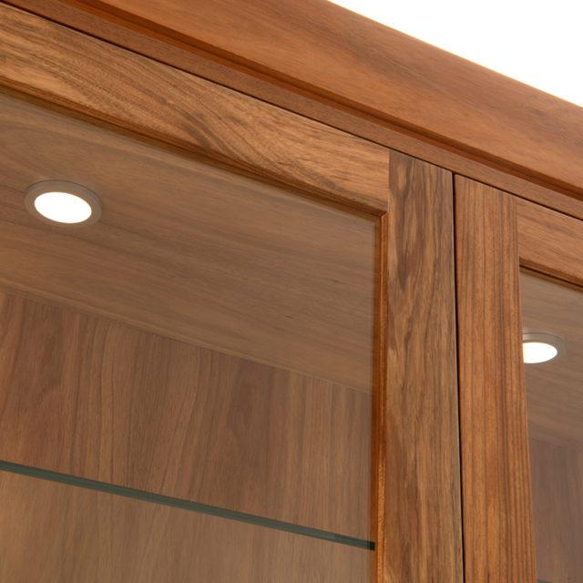 LED downlights Neo glass display dresser_Blackwood