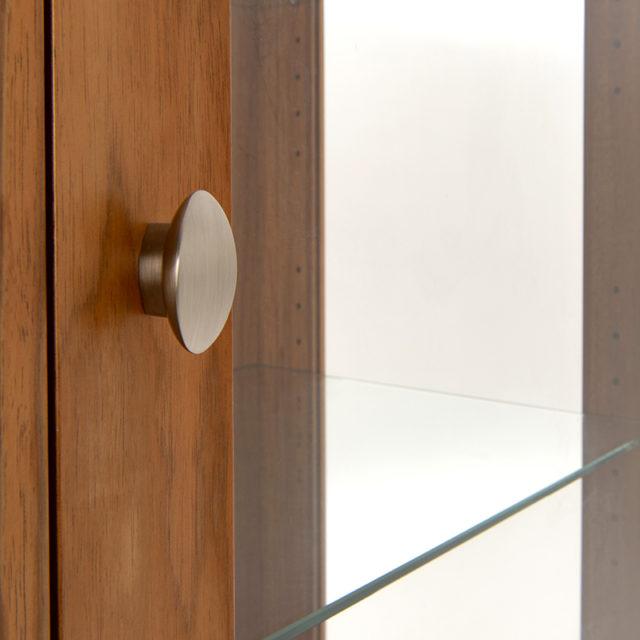 Glass adjustable shelves CGT165 Neo glass display dresser_Blackwood_handle