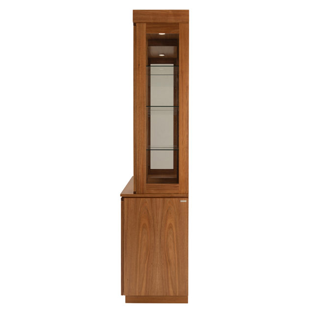 Neo glass display dresser_Blackwood 2250h x 1530w