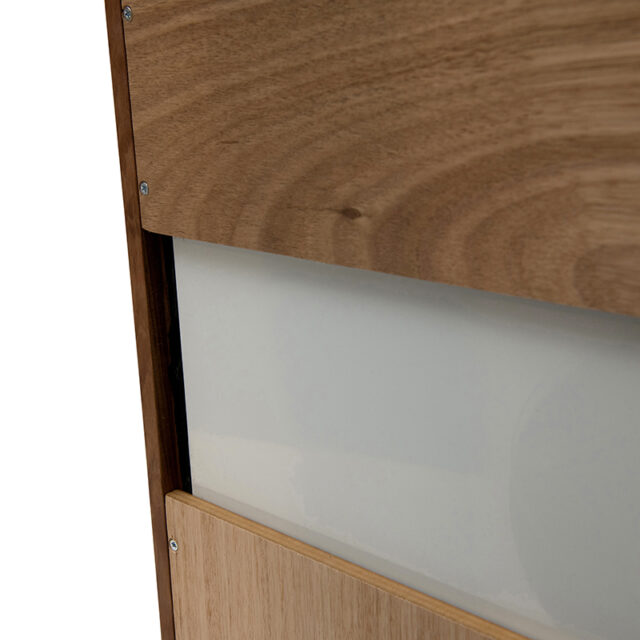 Dan timber frame Mirror - Small Blackwood timber back fixing French cleat