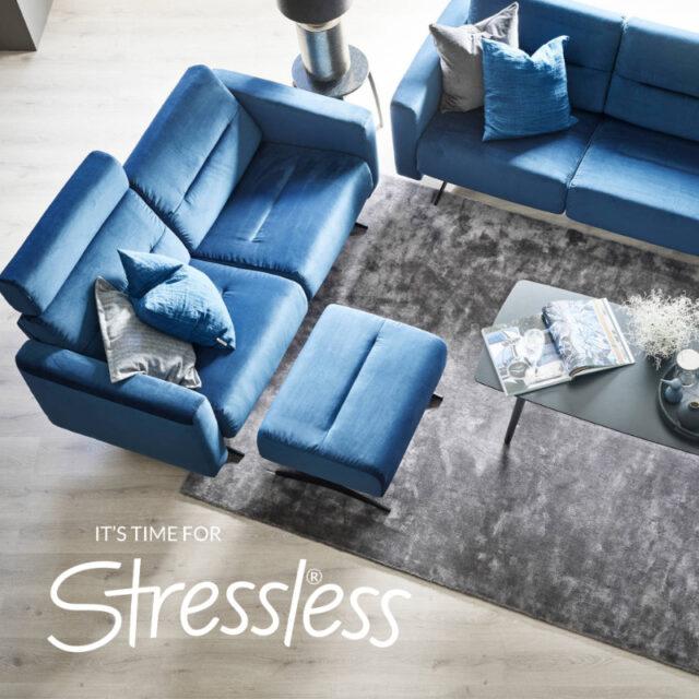 Stressless Bella lounge Blue fabric