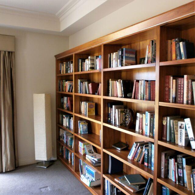 Reeves custom Bookshelves built in blackwood timber