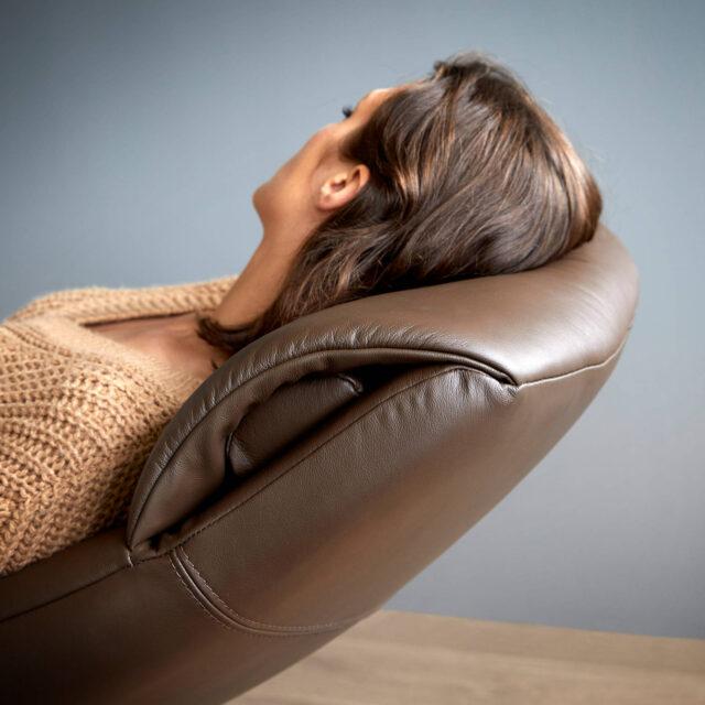 Stressless Scott powered recliner paloma Chestnut with headrest