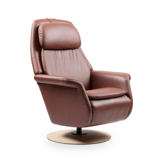 Stressless Sam recliner Paloma Maroon leather with disc base